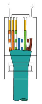 Фото распиновка коннектора RJ45 по цветам